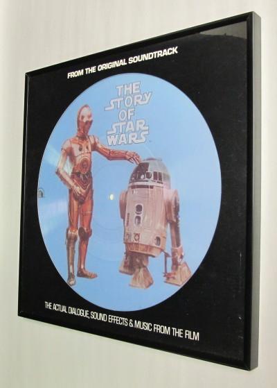 Record Album Frame Black