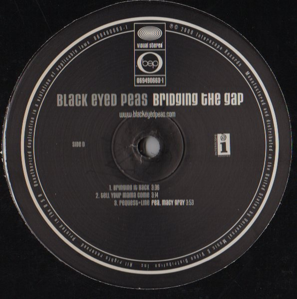 Black Eyed Peas – Bridging The Gap (2xLP) | JiggyJamz ...
