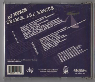 DJ Murge - Search And Rescue - CD - www.jiggyjamz.com -Battle Axe