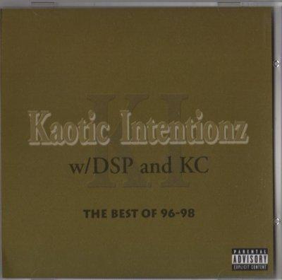 Kaotic Intentionz - DSP, KC - Best Of 96-98 (CD) - www.jiggyjamz.com