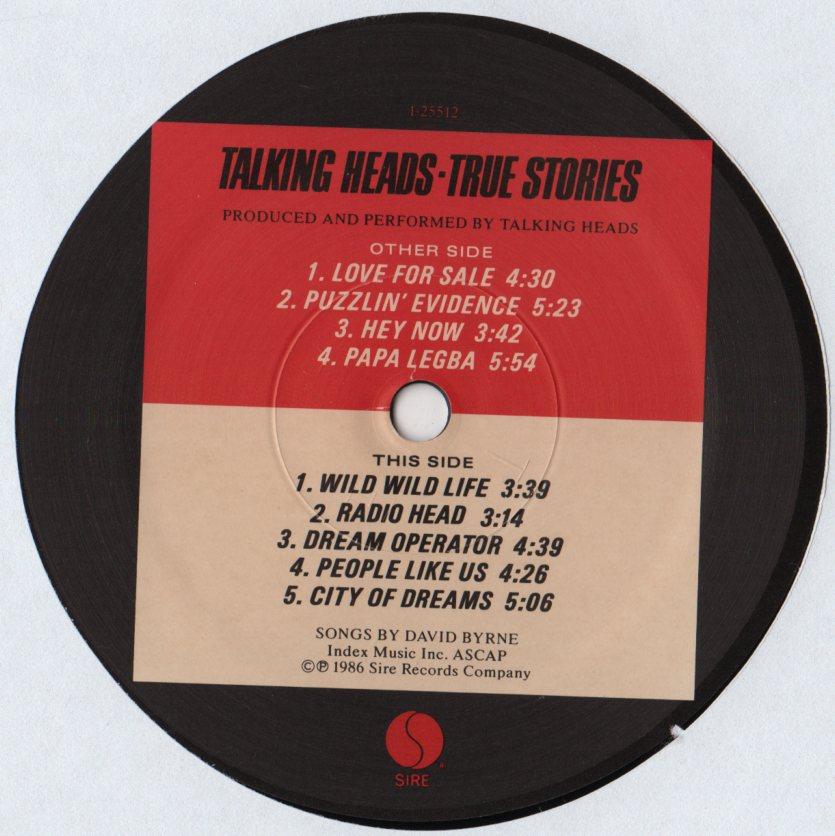 Talking Heads True Stories Soundtrack
