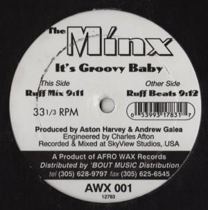 Minx - its Groovy Baby AWX 001 AFRO WAX RECORDS - www.jiggyjamz.com