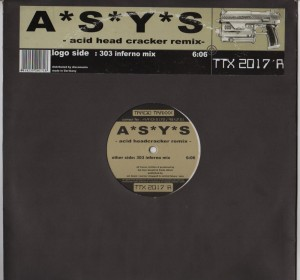 A S Y S - Acid Head Cracker (Remix) vinyl - www.jiggyjamz.com