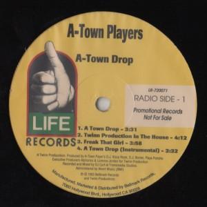 A-Town Players - A-Town Drop - 12 inch vinyl - www,jiggyjamz.com BASS!