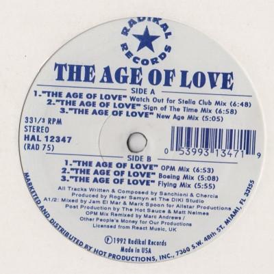 Age Of Love - Radikal Records - Jam and Spoon - www.jiggyjamz.com