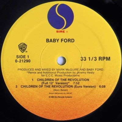 Baby Ford - Children Of The Revolution - Ford Trax - vinyl - www.jiggyjamz.com