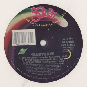 "Babyface - Its No Crime - 12"" vinyl - www.jiggyjamz.com"