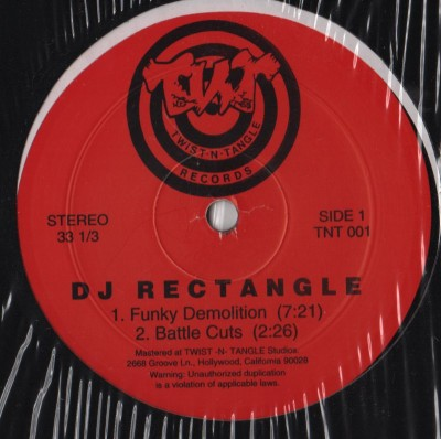 DJ Rectangle - Funky Demolition TNT-001 - vinyl - www.jiggyjamz.com