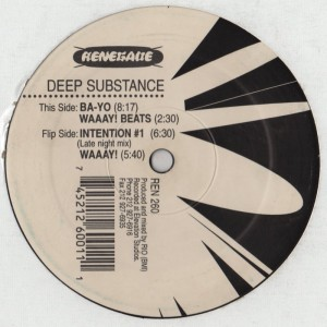 Deep Substance - Waaay - Renegade records NYC - house music vinyl - www.jiggyjamz.com