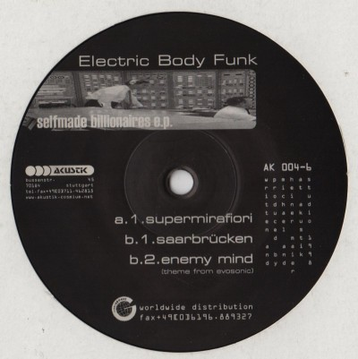 Electronic Body Funk - Selfmade Billionaires EP - vinyl - www.jiggyjamz.com