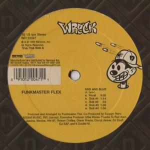 Funkmaster Flex - Sad and Blue - Six Million To Die - vinyl record - www.jiggyjamz.com