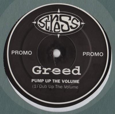 Greed - Pump Up The Volume - vinyl - www.jiggyjamz.com