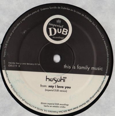 Hesohi - Say I Love You - vinyl - www.jiggyjamz.com