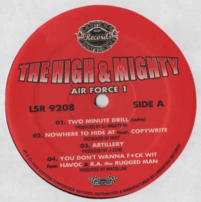 High and Mighty Air Force1 LP - Used vinyl - LIKE NEW - www.jiggyjamz.com