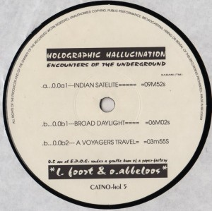 Holographic Hallucination - Encounters Of The Underground - vinyl - www.jiggyjamz.com