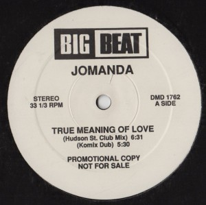 Jomanda - True Meaning Of Love - House Music - vinyl promo - www.jiggyjamz.com