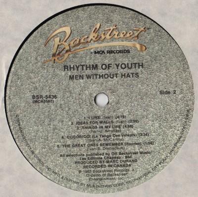 Men Without Hats - Rhythm Of Youth LP - www.jiggyjamz.com