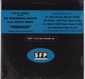 Noel W Sanger Presents Westbrook Project - Miracle - Nicole Henry - vinyl - www.jiggyjamz.com