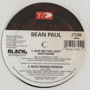 Sean Paul - Give Me The Light / Like Glue 12 Inch vinyl - www.jiggyjamz.com