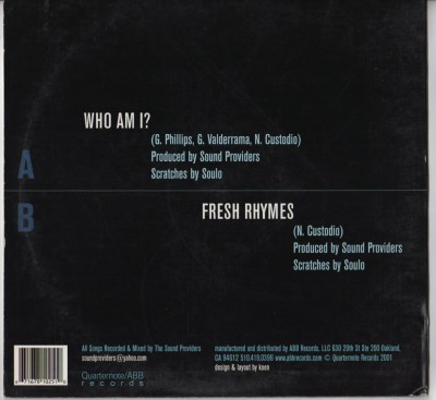Sound Providers with Brotha Grap Luva - Who Am I? - vinyl - www.jiggyjamz.com