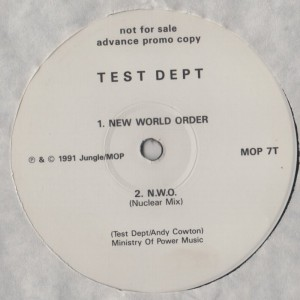 Test Dept - New World Order - vinyl - www.jiggyjamz.com