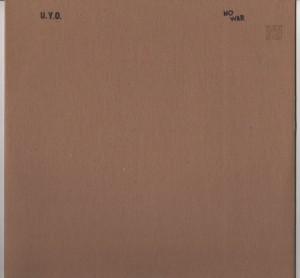 UYO - No War LP - IDM -www,jiggyjamz.com
