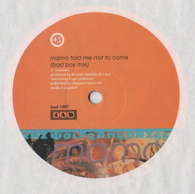 Wolfgang Press, The - Mama Told Me Not To Come (Remix - vinyl) www.jiggyjamz.com