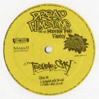 "Dread Flimstone And The Modern Tone Family Featuring Sugar Minott - Trouble In The City (12"") www.jiggyjamz.com"