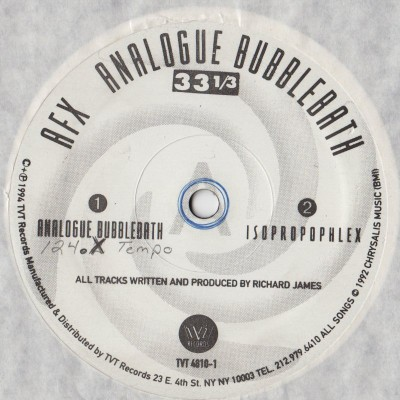 AFX - Analogue Bubblebath (Aphex Twin, Richard D. James) vinyl - www.jiggyjamz.com