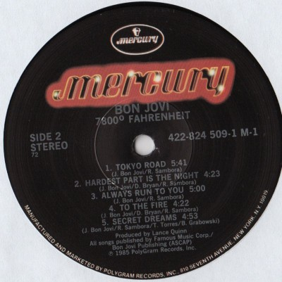 Bon Jovi - 7800 Fahrenheit - LP - vinyl Record - www.jiggyjamz.com