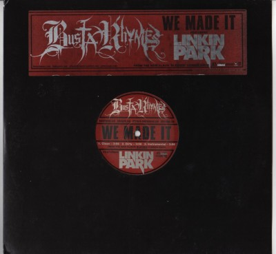 Busta Rhymes and Linkin Park - We Made It - vinyl record - www.jiggyjamz.com