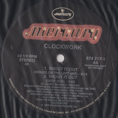 Clockwork - Shout It Out - 1989 House - www.jiggyjamz.com