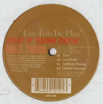 Deaf N Dumb Crew - Une Fois De Plus - Disco House 1999 - vinyl - www.jiggyjamz.com