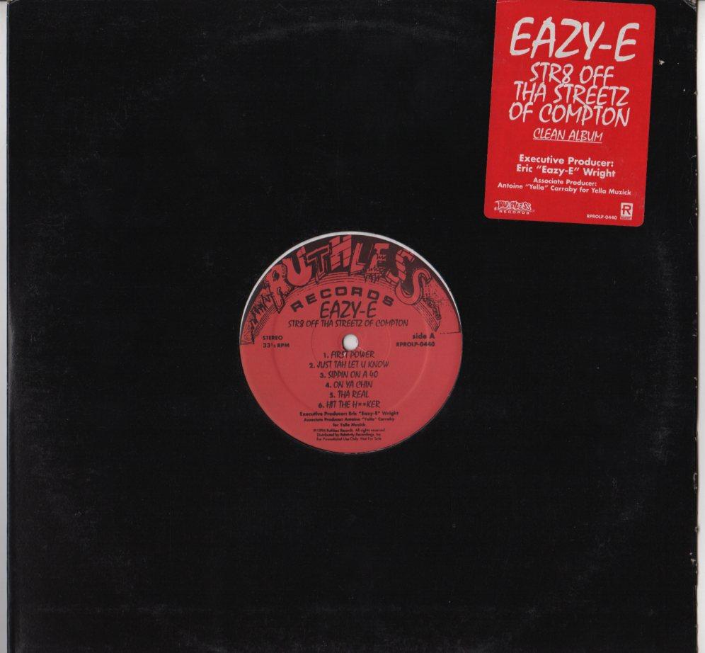Eazy E Str8 Off Tha Streetz Of Compton Lp Clean