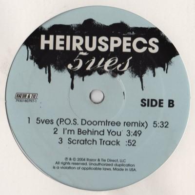 Heiruspecs - 5ves - vinyl - www.jiggyjamz.com