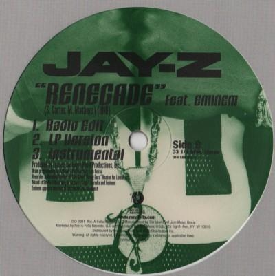 Jay-Z - Jigga - Renegade - vinyl - www.jiggyjamz.com