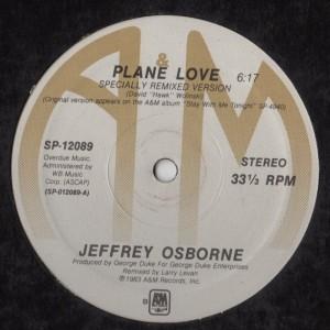 Jeffrey Osborne - Plane Love - Remix - vinyl - www.jiggyjamz.com