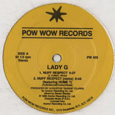 Lady G - Nuff Respect - Reggae Dub - vinyl - www.jiggyjamz.com