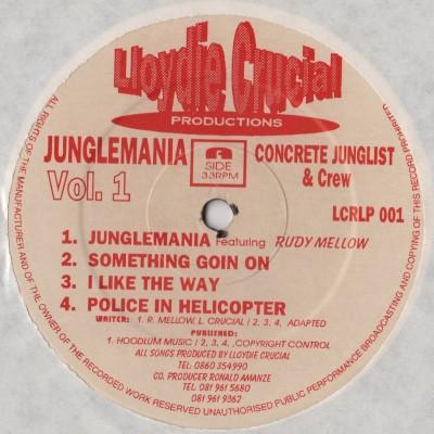 Lloydie Crucial - Junglemania Volume 1 (LP) - raga jungle vinyl - www.jiggyjamz.com