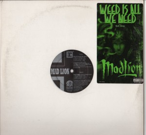 Mad Lion - Weed Is All We Need - ragga hip-hop vinyl - www.jiggyjamz.com