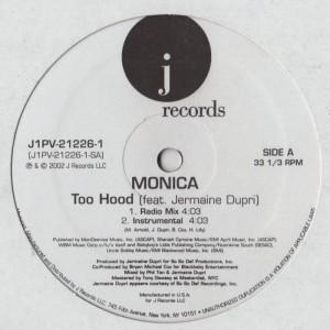 Monica - Too Hood- vinyl - www.jiggyjamz.com