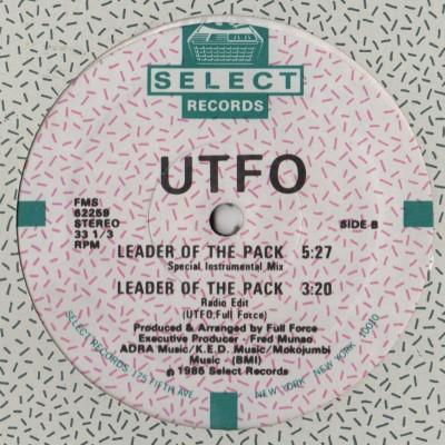 UTFO - Leader Of The Pack - 1985 - Full Force - vinyl - www.jiggyjamz.com