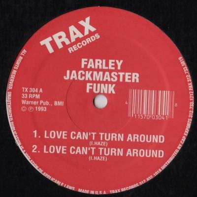 Farley Jackmaster Funk = Love Can't Turn Around - house vinyl - ww.jiggyjamz.com