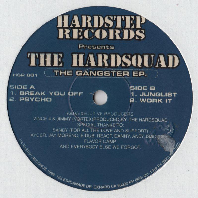 Hardsquad The The Gangster Ep 12 Jiggyjamz Vinyl