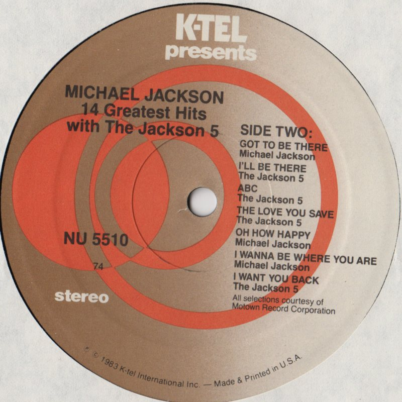 Michael Jackson The Jackson 5 14 Greatest Hits With The