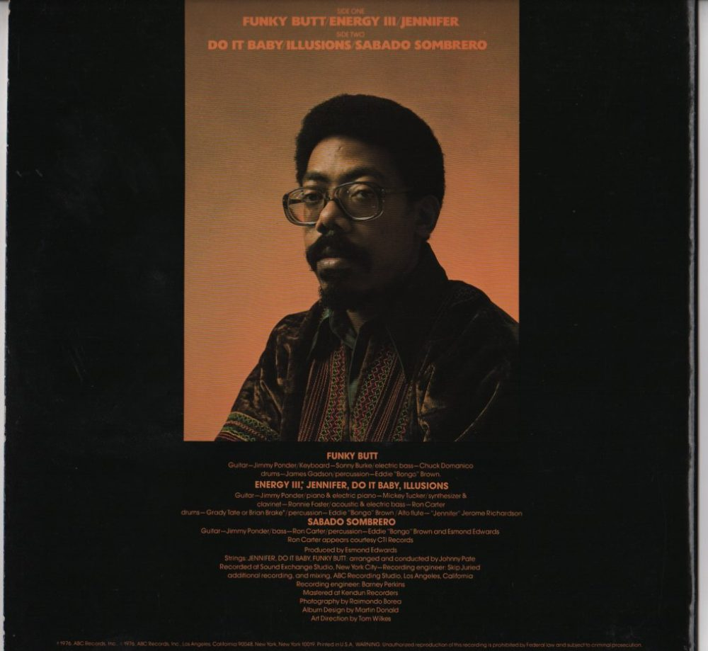 Jimmy Ponder Illusions Lp Jiggyjamz Vinyl Records