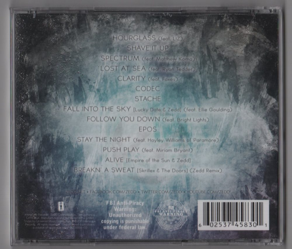 Zedd – Clarity (CD, Deluxe Edition) - 113.5KB
