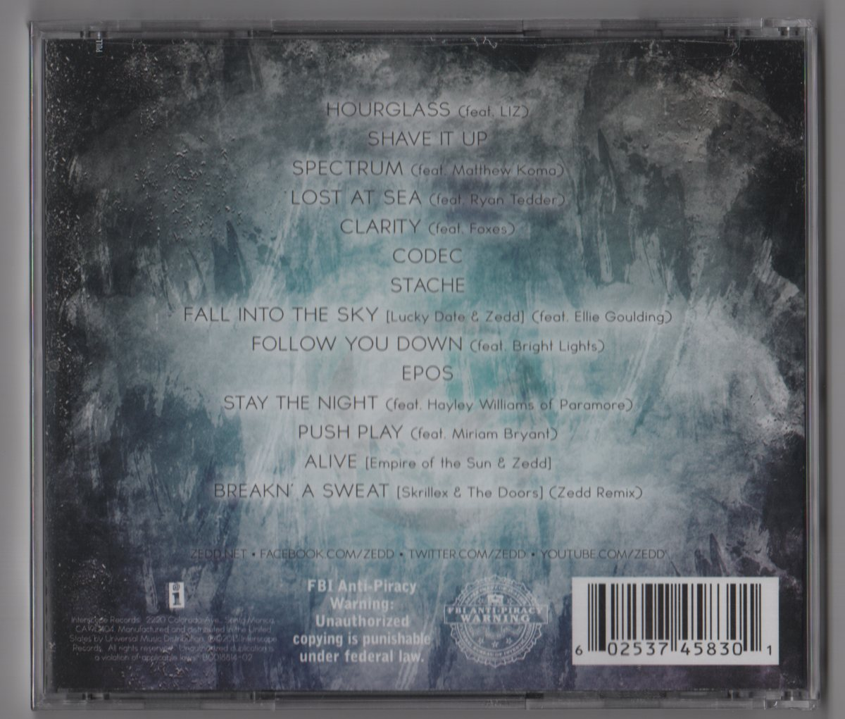 Zedd – Clarity (CD, Deluxe Edition) - 177.1KB
