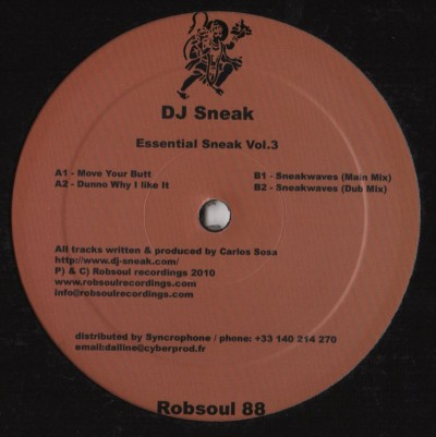 "DJ Sneak - Essential Sneak Vol.3 (12"")"