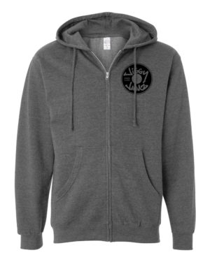 Black on gunmetal heather zip hood - JiggyJamz Sweatshirt